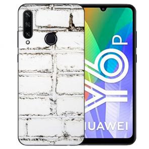 Huawei Y6P (2020) TPU Hülle mit Fotodruck Weiße Mauer Etui