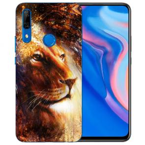 Silikon TPU mit LöwenKopf Porträt Fotodruck für Huawei Y9 Prime 2019