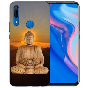 Huawei Y9 Prime 2019 Silikon TPU Hülle mit Frieden buddha Fotodruck