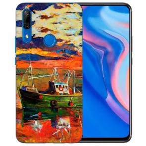 Silikon TPU mit Gemälde Fotodruck für Huawei Y9 Prime 2019 Etui