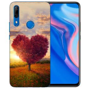 Silikon TPU mit Herzbaum Fotodruck für Huawei Y9 Prime 2019 Etui