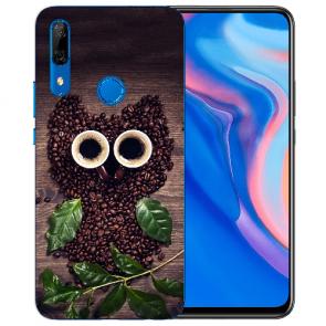 Silikon TPU mit Kaffee Eule Fotodruck für Huawei Y9 Prime 2019