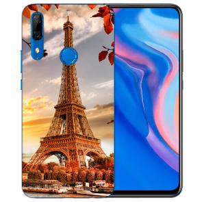 Huawei Y9 Prime 2019 Silikon TPU mit Fotodruck Eiffelturm
