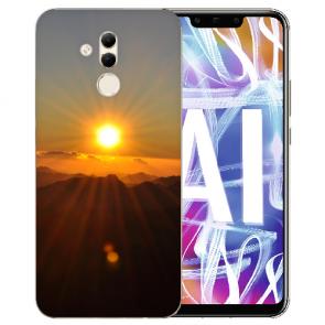 Huawei Mate 20 Lite Silikon TPU Handy Hülle mit Bilddruck Sonnenaufgang