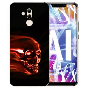Silikon TPU Hülle mit Bilddruck Totenschädel für Huawei Mate 20 Lite
