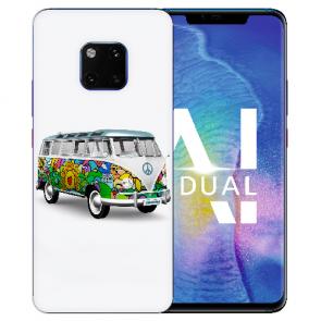 Huawei Mate 20 Pro Silikon TPU Hülle mit Bilddruck Hippie Bus Etui
