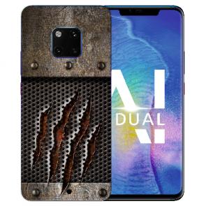 Huawei Mate 20 Pro Silikon TPU Hülle mit Bilddruck Monster-Kralle Etui