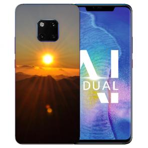 Huawei Mate 20 Pro Silikon TPU Hülle mit Bilddruck Sonnenaufgang