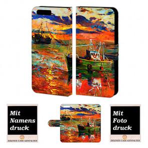 Handy Hülle Tasche mit Gemälde Bild Druck für Huawei P10 Etui