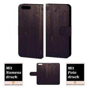 Huawei P10 Personalisierte Handy Tasche mit Holz Optik Bilddruck