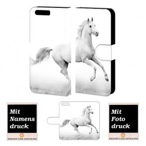 Huawei P10 Personalisierte Handy Tasche mit Pferd Bilddruck Etui