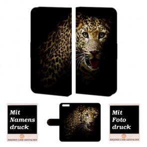 Schutzhülle Handy Tasche für Huawei P10 mit Leopard Bild Druck