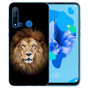 Silikon Schutzhülle TPU für Huawei P20 Lite 2019 mit Löwe Bilddruck