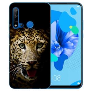 Silikon Schutzhülle TPU für Huawei P20 Lite 2019 mit Leopard Bilddruck