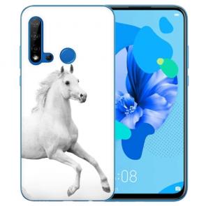 Silikon Schutzhülle TPU Case für Huawei P20 Lite 2019 mit Pferd Bilddruck
