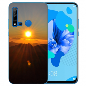 Huawei P20 Lite 2019 Silikon TPU Hülle mit Bilddruck Sonnenaufgang