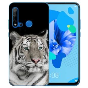 Silikon Schutzhülle TPU Case für Huawei P20 Lite 2019 mit Tiger Bilddruck