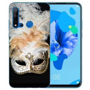 Huawei P20 Lite 2019 Silikon TPU Hülle mit Bilddruck Venedig Maske