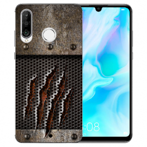 Huawei P20 Lite Silikon TPU Handy Hülle mit Bild Druck Monster-Kralle