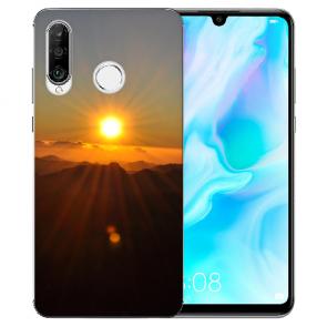 Huawei P30 Lite New Edition Silikon TPU Hülle mit Bilddruck Sonnenaufgang