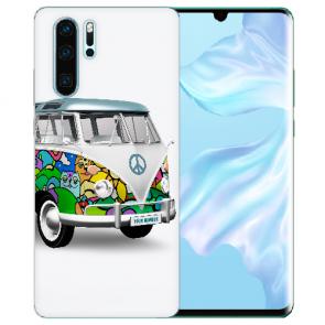 Silikon TPU Hülle mit Bilddruck Hippie Bus für Huawei P30 Pro