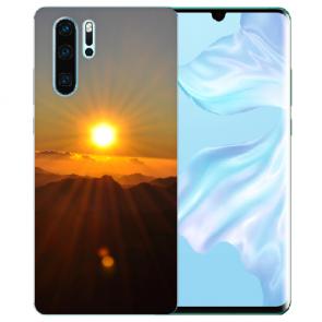 Silikon TPU Hülle mit Bilddruck Sonnenaufgang für Huawei P30 Pro