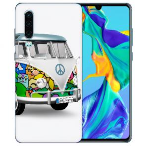 Silikon TPU Handy Hülle mit Bilddruck Hippie Bus für Huawei P30