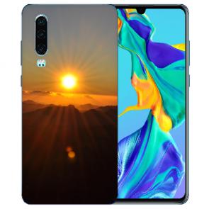 Silikon TPU Handy Hülle mit Bilddruck Sonnenaufgang für Huawei P30