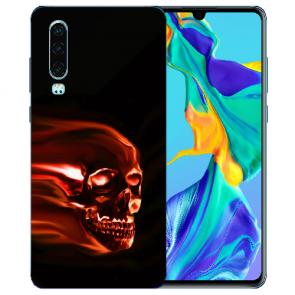 Silikon TPU Handy Hülle mit Bilddruck Totenschädel für Huawei P30