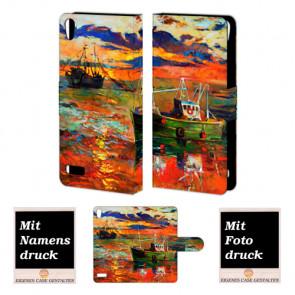 Huawei Ascend P6 Personalisierte Handy Hülle mit Gemälde Bilddruck