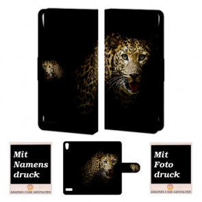 Huawei Ascend P6 Personalisierte Handyhülle mit Leopard Fotodruck