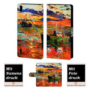 Personalisierte Handyhülle für Huawei Ascend P7 mit Gemälde Bilddruck