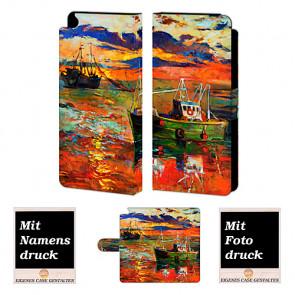 Huawei P8 Gemälde Handy Tasche Hülle Foto Bild Druck