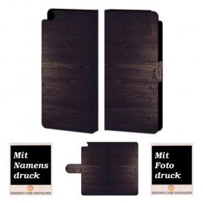 Huawei P8 Schutzhülle Handy Tasche mit Holz Optik Bilddruck