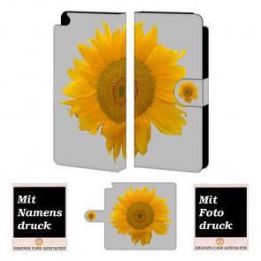 Handy Tasche Hülle mit Bild Druck Sonnenblumen für Huawei P8