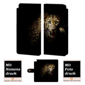 Huawei P8 Tiger Handy Tasche Hülle Foto Bild Druck