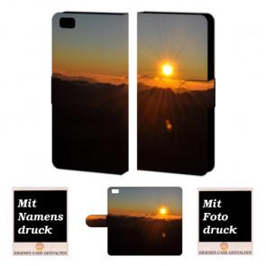Huawei P8 Lite Handy Tasche Hülle mit Sonnenaufgang Fotodruck