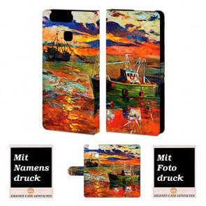 Handy Tasche Hülle mit Gemälde Foto Bild Druck für Huawei P9 Etui