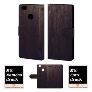 Huawei P9 Lite Personalisierte Handyhülle mit Holz Optik Fotodruck