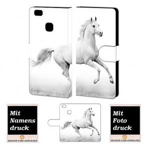 Individuelle Schutzhülle für Huawei P9 Lite Handy mit Pferd Fotodruck