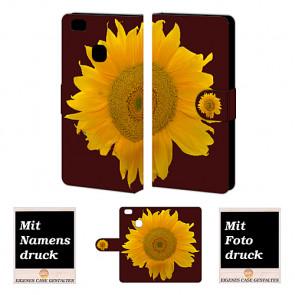 Huawei P9 Lite Personalisierte Handyhülle mit Sonnenblumen Bild Druck