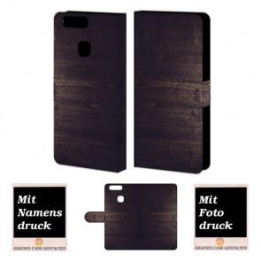 Huawei P9 Plus Personalisierte Handyhülle mit Holz Optik Fotodruck