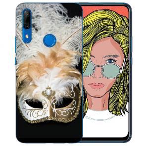 Huawei P Smart Z Silikon TPU Hülle mit Bilddruck Venedig Maske