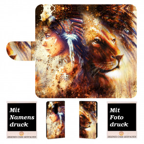 Nokia 8 Handyhülle mit Indianer - Löwe - Gemälde + Bilddruck