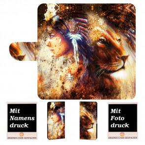 Samsung Galaxy Xcover 4 Handyhülle mit Indianer - Löwe - Gemälde Fotodruck
