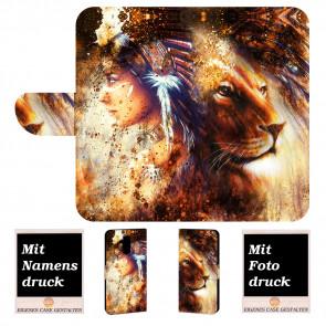 Huawei Mate 20 Lite Handyhülle mit Indianer - Löwe - Gemälde Fotodruck