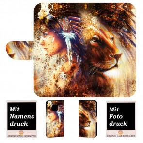 Huawei Mate 20 Pro Handyhülle mit Indianer - Löwe - Gemälde Fotodruck