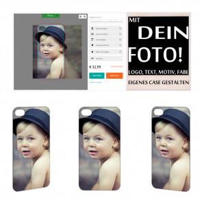 2D Hülle für iPhone 4 4s TPU Hülle mit Foto und Text zum selbst gestalten.