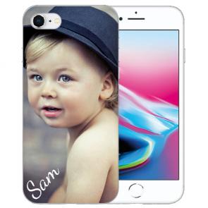 iPhone 8 Silikon / TPU Schutzhülle mit Foto Namen Bilddruck Handy Case