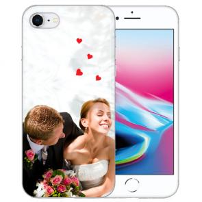 iPhone 7/8 Silikon / TPU Schutzhülle mit Foto Namen Bilddruck Handy Case